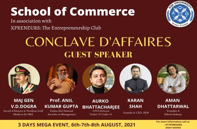 Conclave D'affaires, a webinar-style Business Conclave
